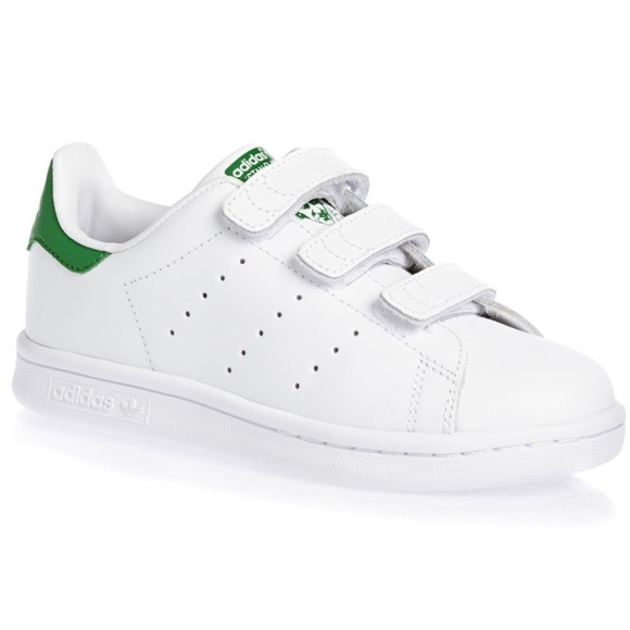 the best attitude 2296a f443c NEW Adidas Kids Stan Smith Velcro Shoes